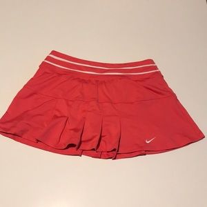 Nike DrifFit Coral Pink tennis mini skirt Size S